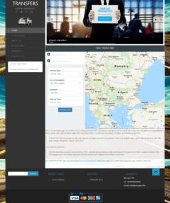 Изработка на сайт за такси и трансфери
