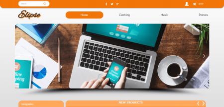 Elipse Turquoise - шаблон за онлайн магазин