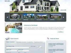 Сайт за недвижими имоти с дизайн по шаблон