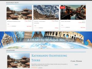 Сайт за туристически агенции с дизайн по шаблон