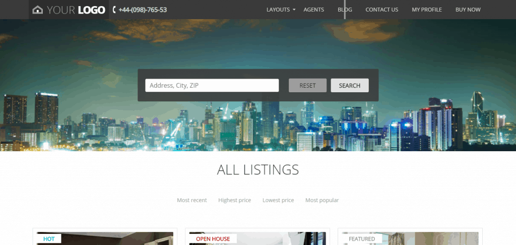 Изработка на сайт за недвижими имоти на супер цена