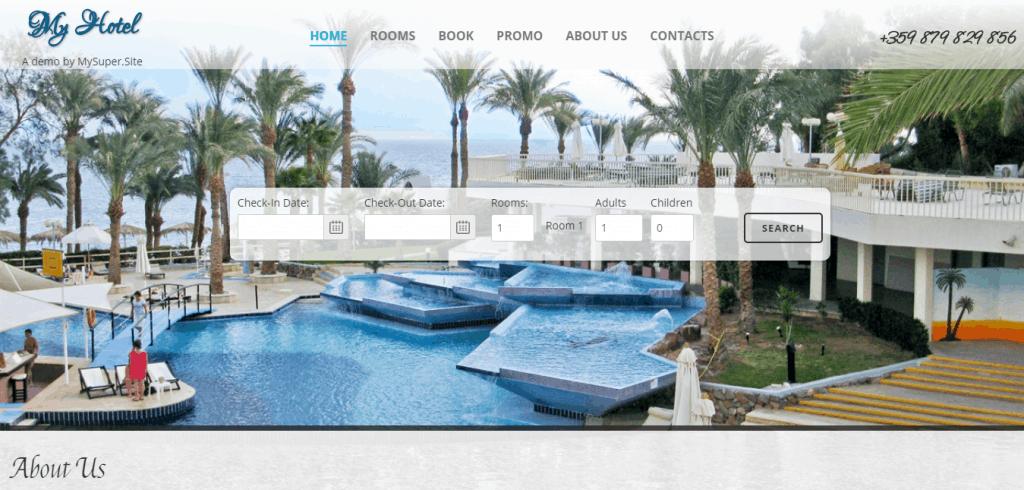 Изработка на сайт за хотел, къща за гости