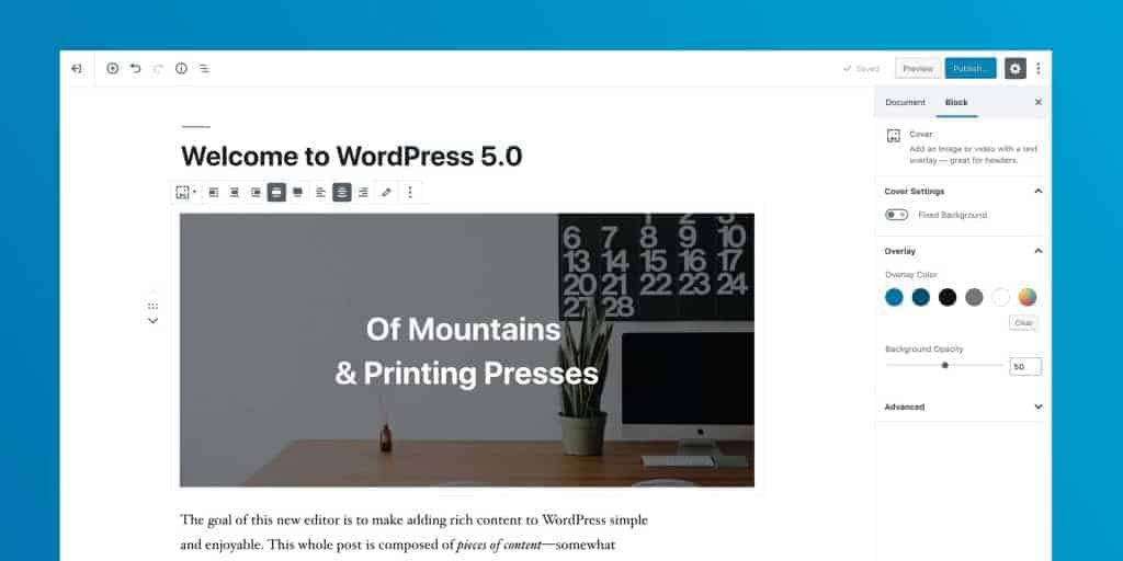 Добре дошли в WordPress 5.0